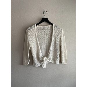 Christopher & Banks Cream Cardigan Size Small
